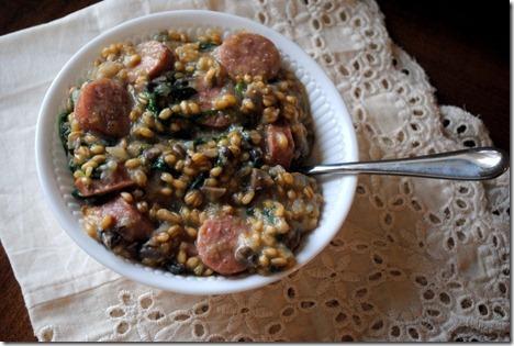mushroom risotto healthy