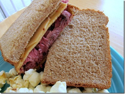 roast beef with cheese
