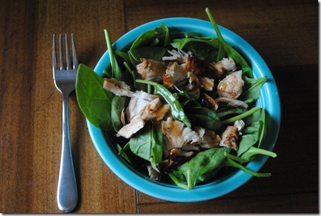 asian chicken spinach salad 018