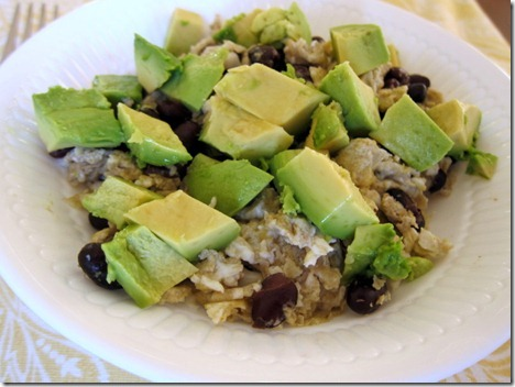 avocado black beans scrambled eggs