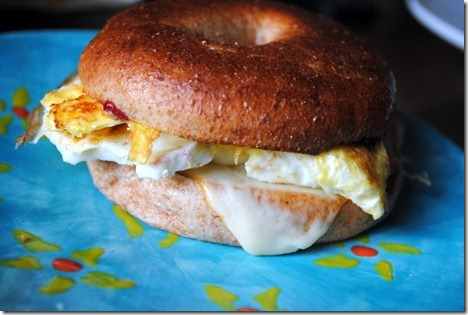 egg bagel sandwich 017