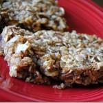 Healthy Honey Almond Hazelnut Granola Bars