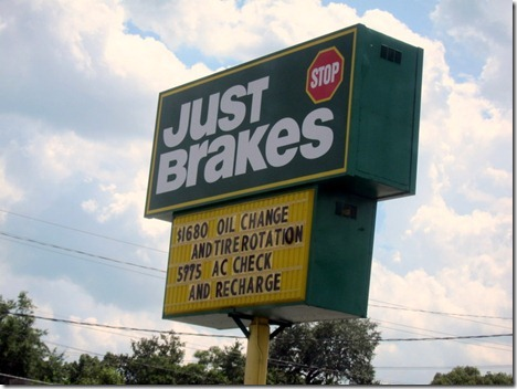 just brakes oil change