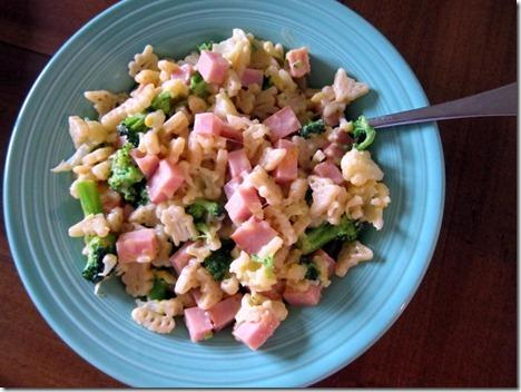 mac and cheese broccoli ham cauliflower