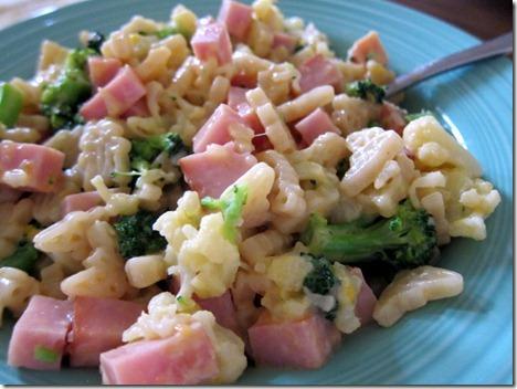 mac and cheese ham broccoli cauliflower
