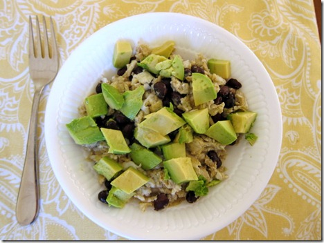scrambled eggs avocado black beans