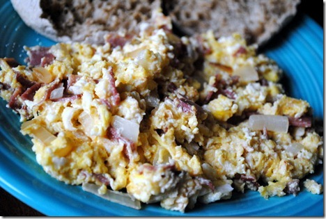 scrambled eggs turkey bacon 018
