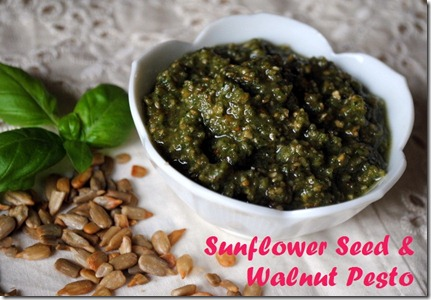 sunflower seed pesto walnuts