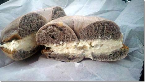 toasted bagel honey walnut cream cheese