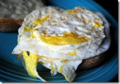two eggs bagel