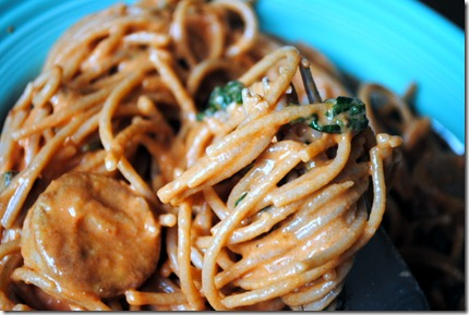 whole wheat spaghetti marinara sauce