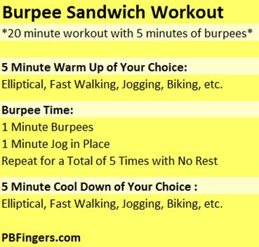 Burpee Sandwich Workout