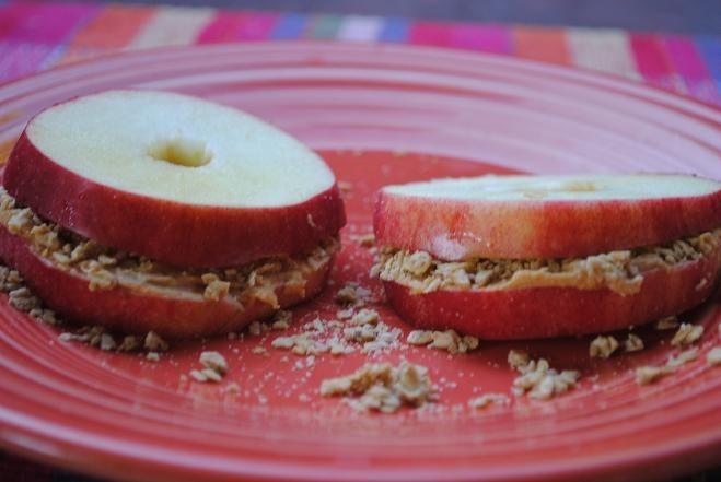 Apple Peanut Butter Sandwich Recipe — Dishmaps