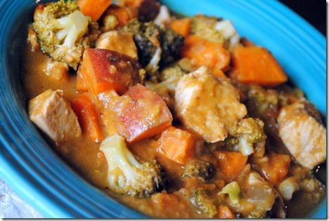 chicken broccoli sweet potato soup