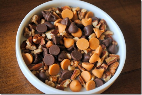 chocolate chips butterscotch chips pecans