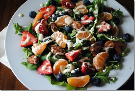 citrus salad with goat cheese dressing 010