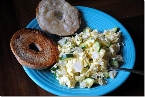 eggs onion zucchini