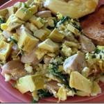 eggs spinach chicken sausage