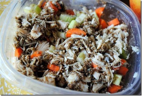 pesto chicken salad 005