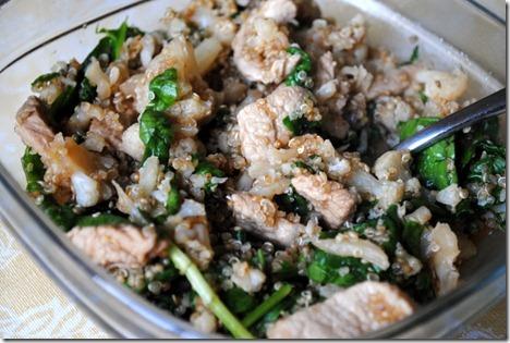 quinoa pork soy sauce