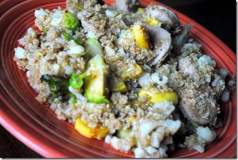 quinoa sausage vegetables
