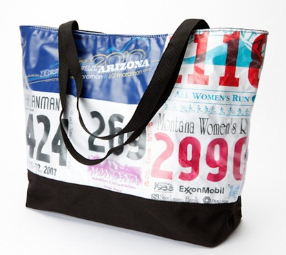 race number tshirt bag