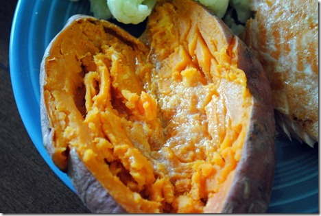 sweet potato with butter