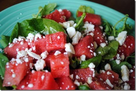watermelon feta arugula