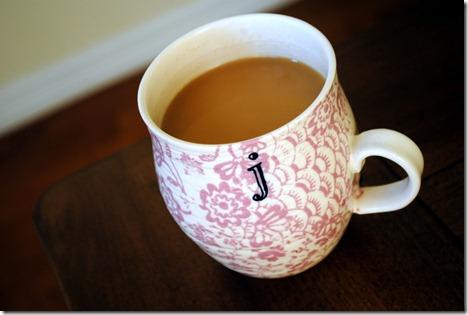 anthropologie initial mug