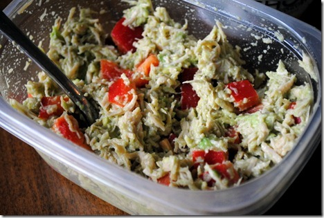 chicken salad avocado red pepper