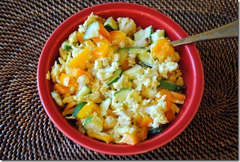 egg scramble with vegetables 002