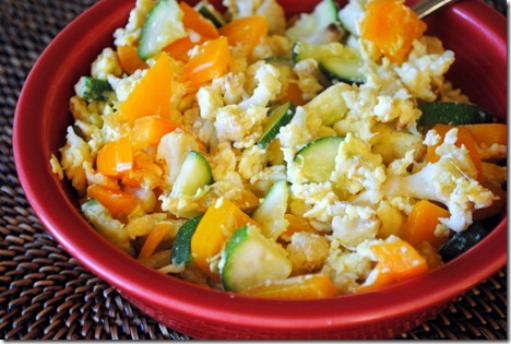 egg scramble with vegetables 003