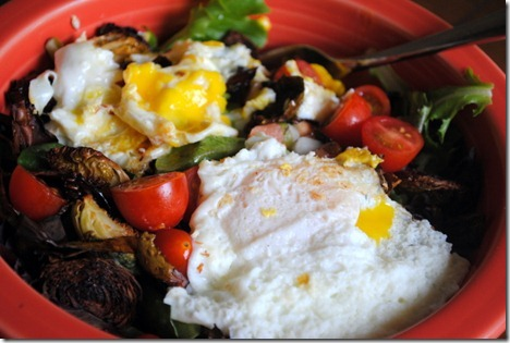 eggs on top of salad 005