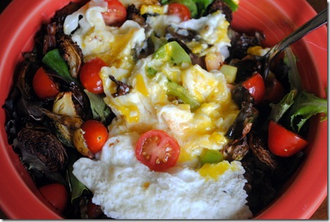 eggs on top of salad 007