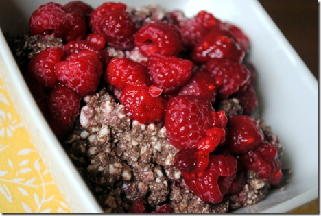 raspberries chocolate cottage cheese