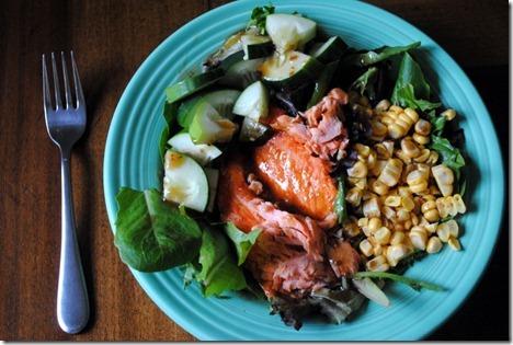 salmon corn salad
