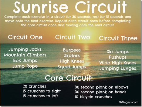 sunrise circuit workout