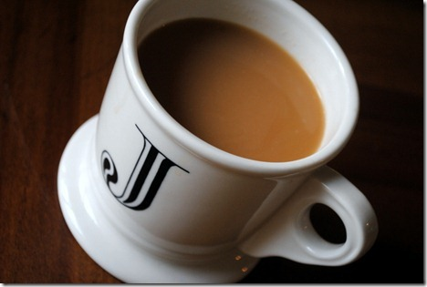 coffee in anthropologie initial mug j