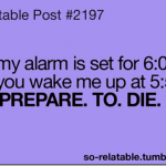 horrible alarm