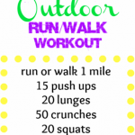 outdoor run walk workout