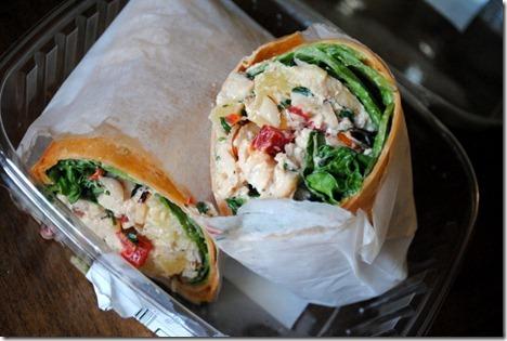 earth origins hawaiian chicken salad wrap