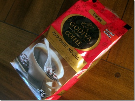 godiva peppermint mocha coffee