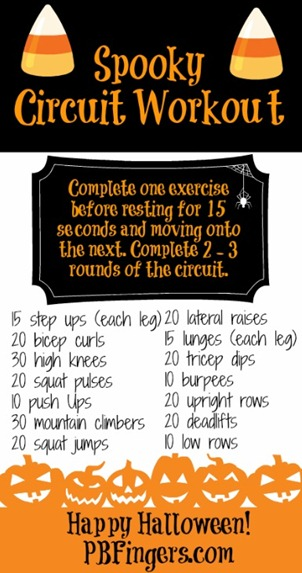 halloween circuit workout