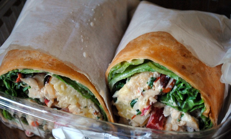 ... and grabbed a Hawaiian chicken salad wrap for lunch while I was there