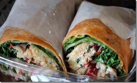hawaiian chicken salad wrap