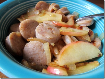 Apple Chicken Sausage skillet