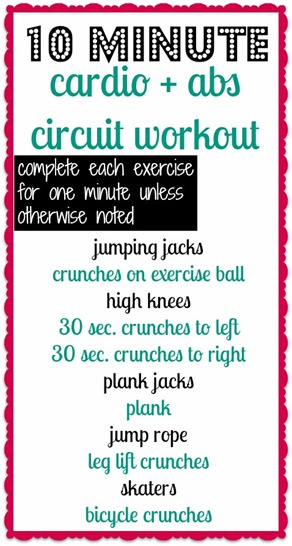 Cardio and Abs Circuit Workout - Only 10 Minutes
