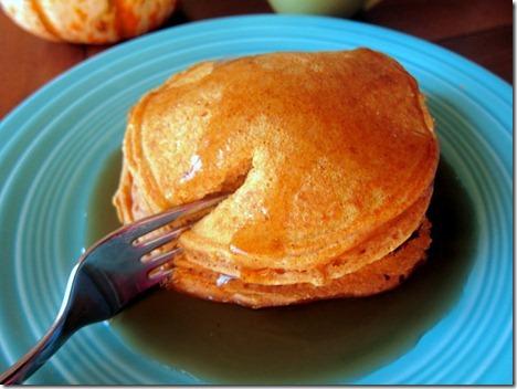 Honey Whole Wheat Pumpkin Pancakes