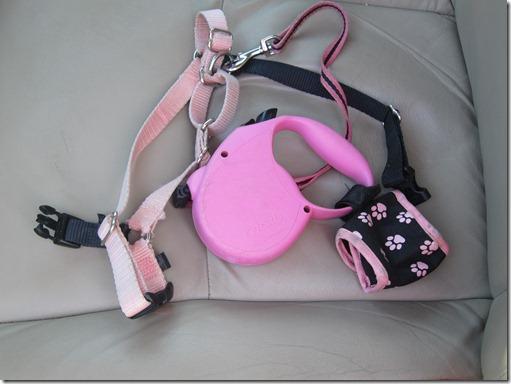 Pink Retractable Dog Leash