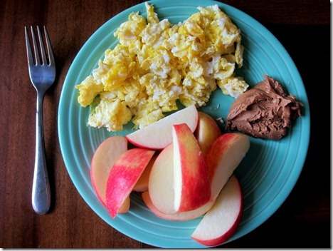 apples almond butter eggs